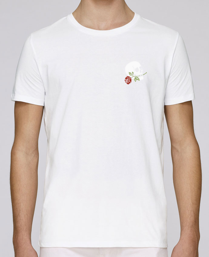 T-Shirt Col Rond Stanley Leads Skull flower par Ruuud
