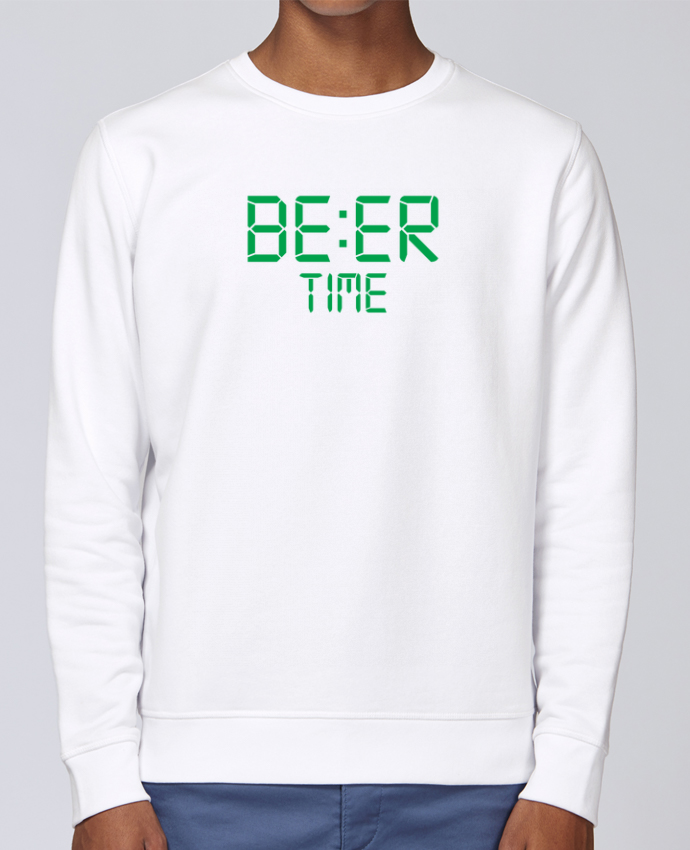 Sweat Col rond Unisex Stanley Stella Rise Beer time par tunetoo