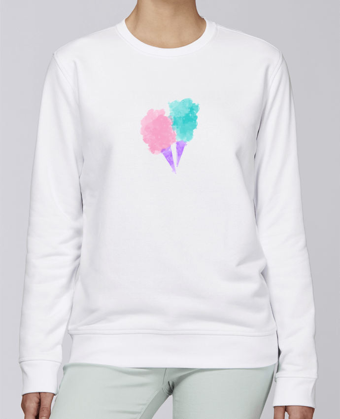 Sweat Col rond Unisexe Stanley Stella Rise Watercolor Cotton Candy par PinkGlitter