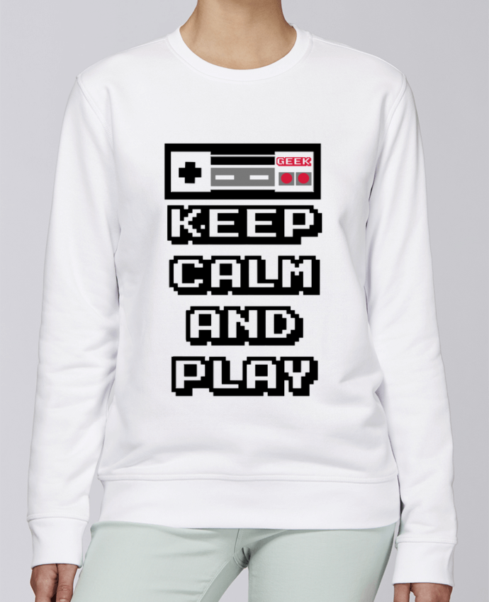 Sweat Col rond Unisexe Stanley Stella Rise KEEP CALM AND PLAY par SG LXXXIII