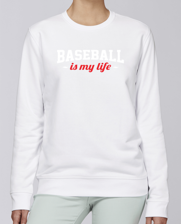 Sweat Col rond Unisexe Stanley Stella Rise Baseball is my life par Original t-shirt