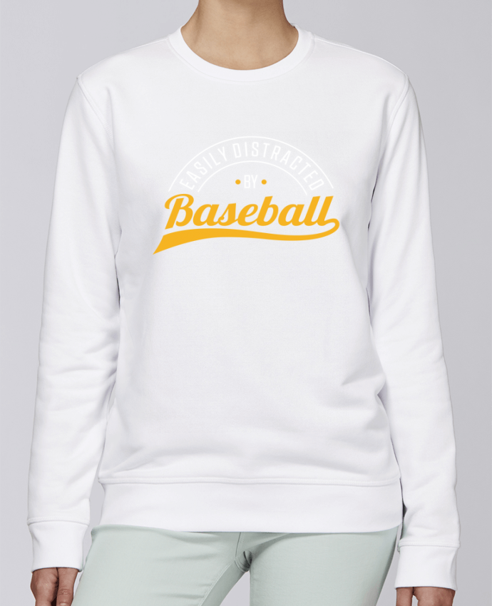 Sweat Col rond Unisexe Stanley Stella Rise Distracted by Baseball par Original t-shirt