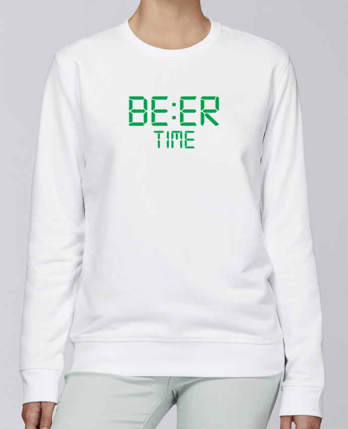 Sweat Col rond Unisexe Stanley Stella Rise Beer time par tunetoo