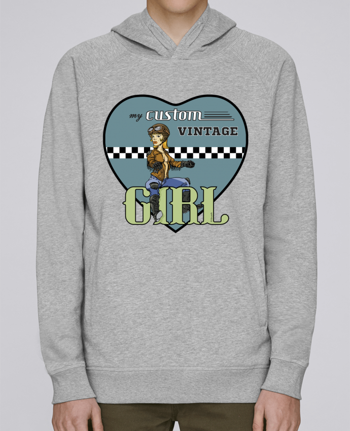 Sweat Capuche Homme Stanley Base My custom vintage girl par BRUZEFH
