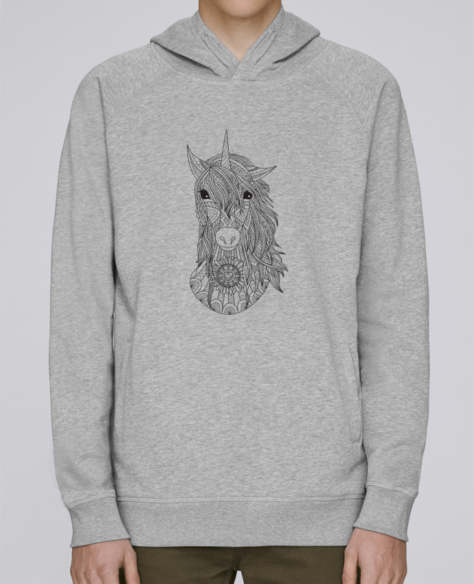 Sweat Capuche Homme Stanley Base Unicorn par Bichette