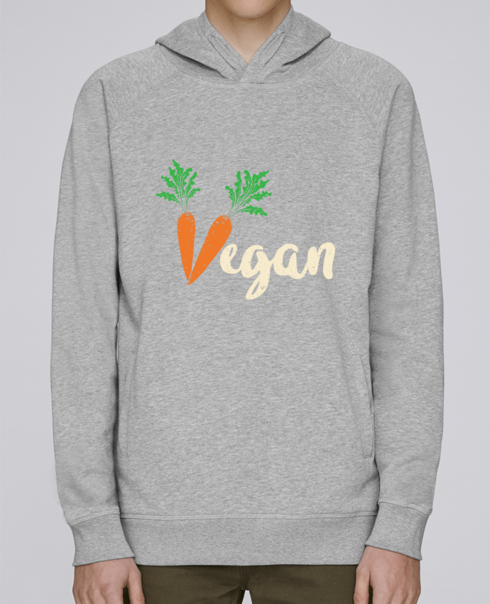 Sweat Capuche Homme Stanley Base Vegan carrot par Bichette