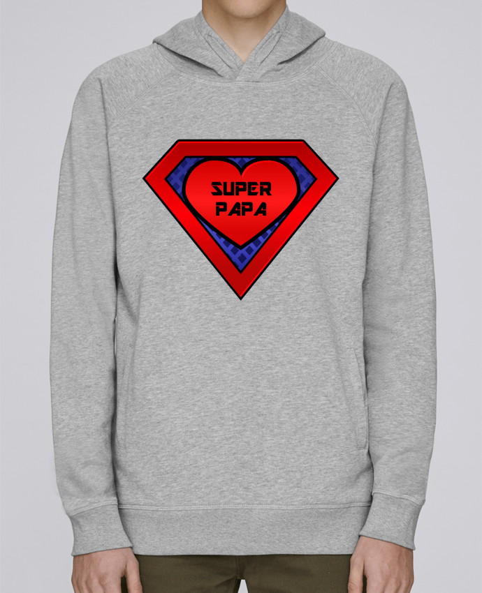 Sweat Capuche Homme Stanley Base Super papa par FRENCHUP-MAYO