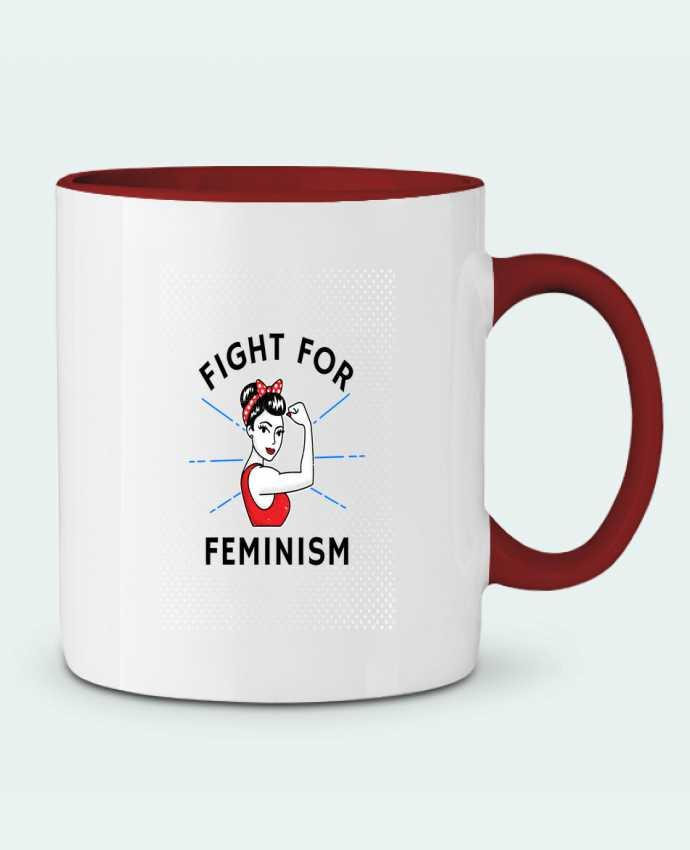 Mug en Céramique Bicolore Fight for féminism Vise Shine your life