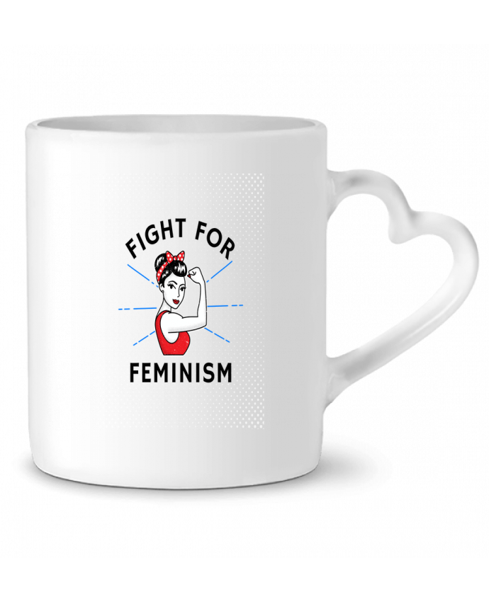 Mug Coeur Fight for féminism par Vise Shine your life