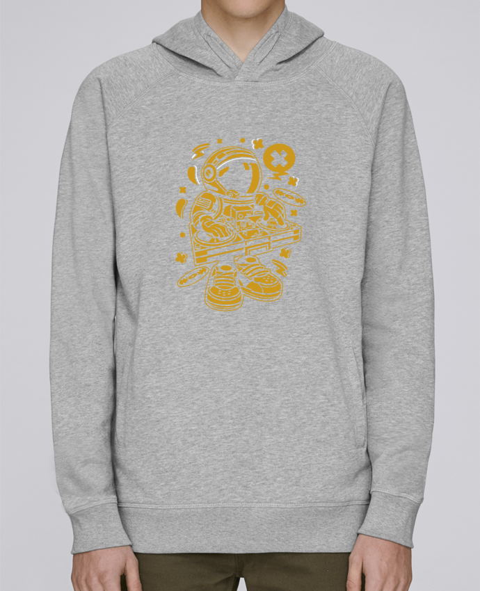Sweat Capuche Homme Stanley Base Dj Astronaute Golden Cartoon | By Kap Atelier Cartoon par Kap Atelier