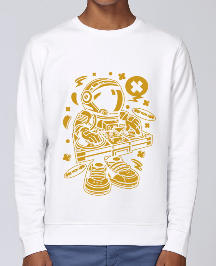 Sweat Col rond Unisex Stanley Stella Rise Dj Astronaute Golden Cartoon | By Kap Atelier Cartoon par Kap Atelier