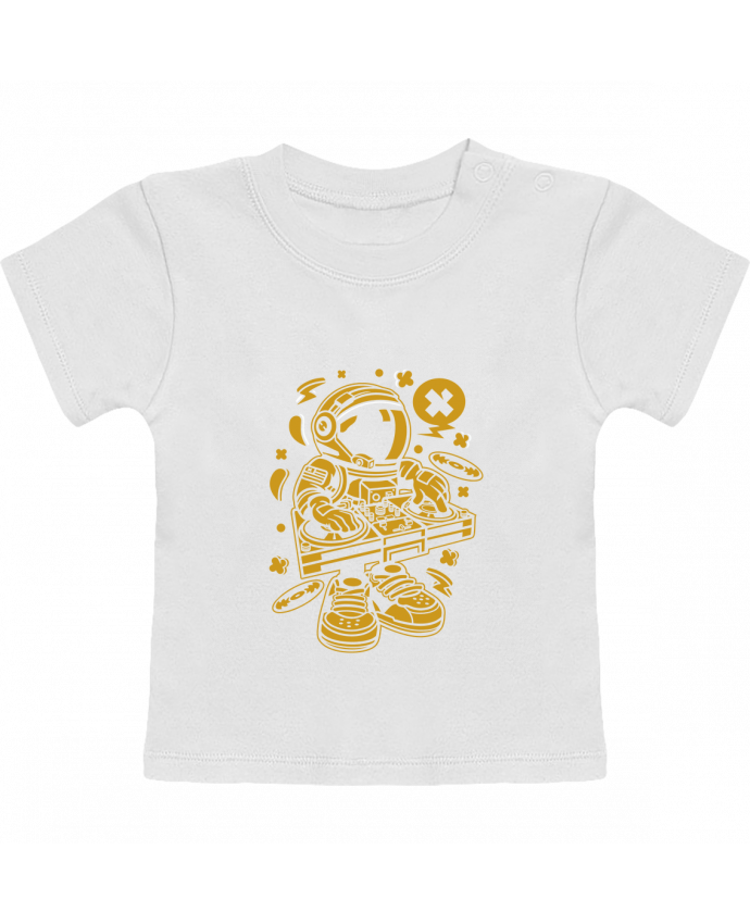 T-Shirt Bébé Manches Courtes Dj Astronaute Golden Cartoon | By Kap Atelier Cartoon manches courtes du designer Kap A