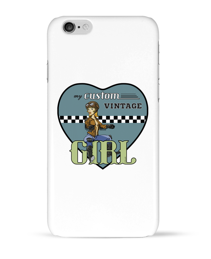 Coque 3D Iphone 6 My custom vintage girl par BRUZEFH