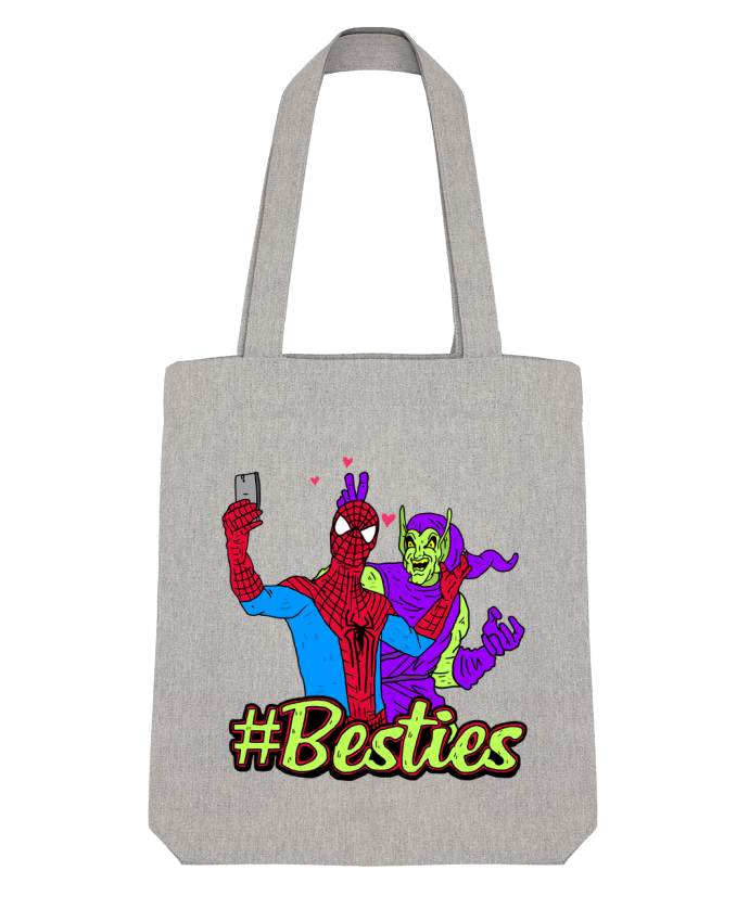 Tote Bag Stanley Stella #Besties Spiderman par Nick cocozza