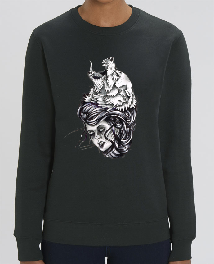 Sweat-shirt Femme & Loup Par david