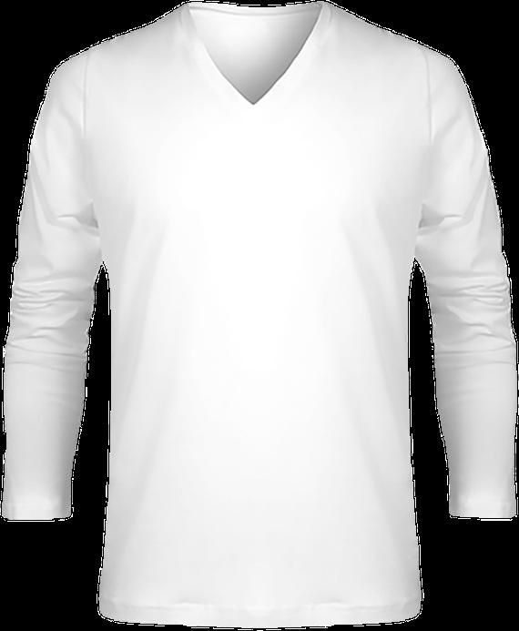 e528f94041b5e T-shirt Manches Longues Col V Homme