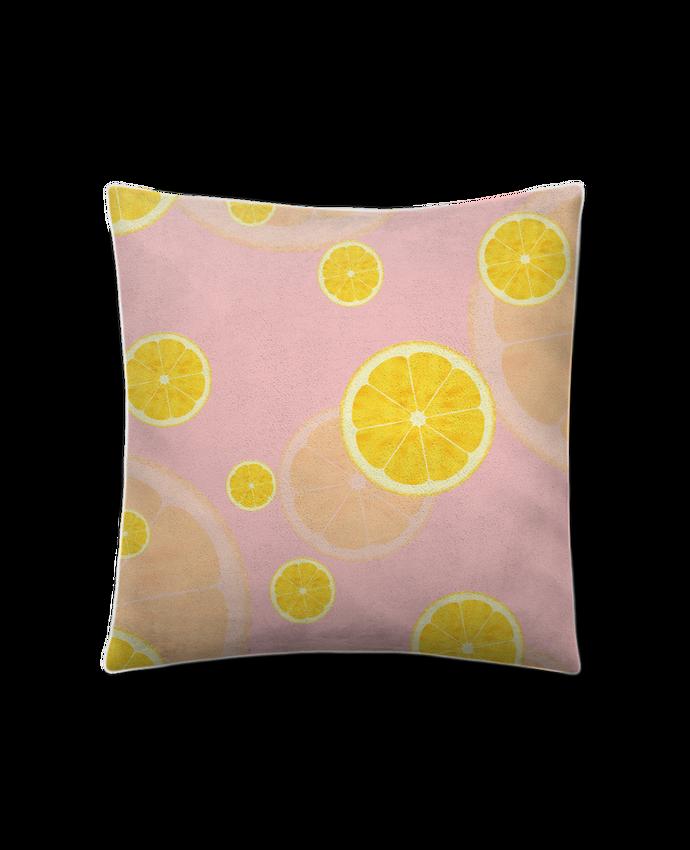 Coussin Toucher Peau de Pêche 45 x 45 cm Lemon juice par tunetoo