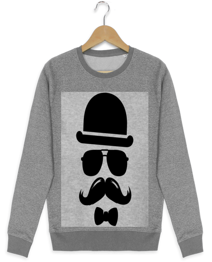 Sweat Col Rond Stella Seeks Vetement moustache swag par mateo