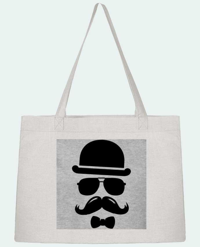 Sac Shopping Vetement moustache swag par mateo