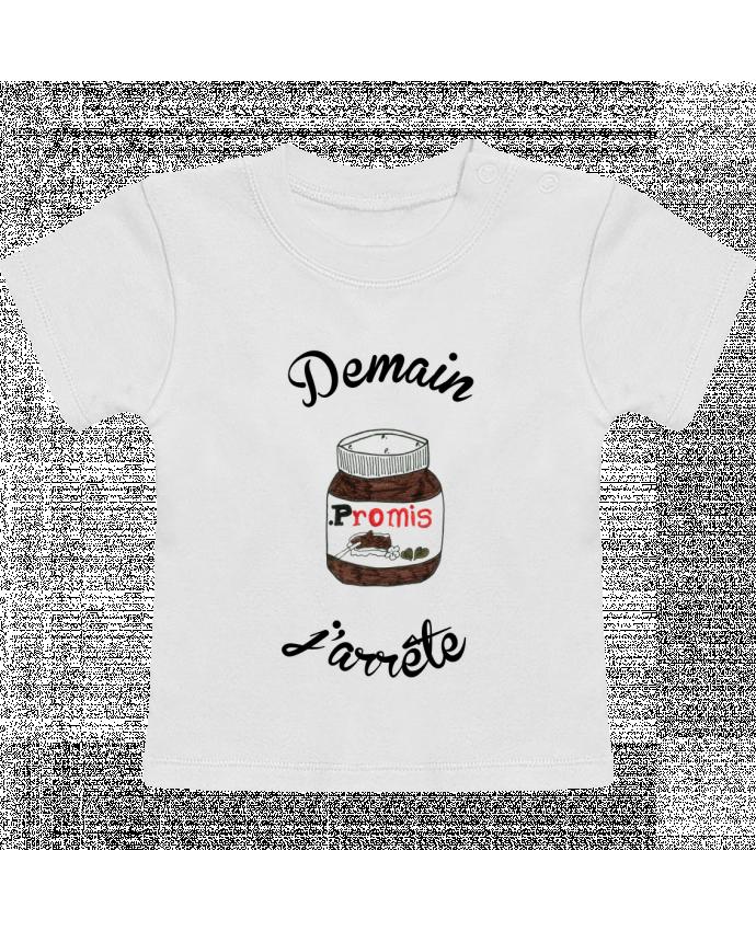 T-Shirt Bébé Manches Courtes Demain j'arrête le Nutella manches courtes du designer Promis