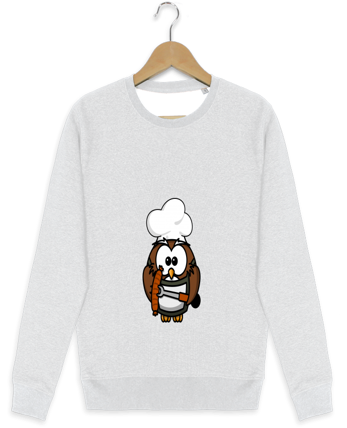 Sweat-shirt Stanley stella modèle seeks BARBECUE OWL par PrinceDesign