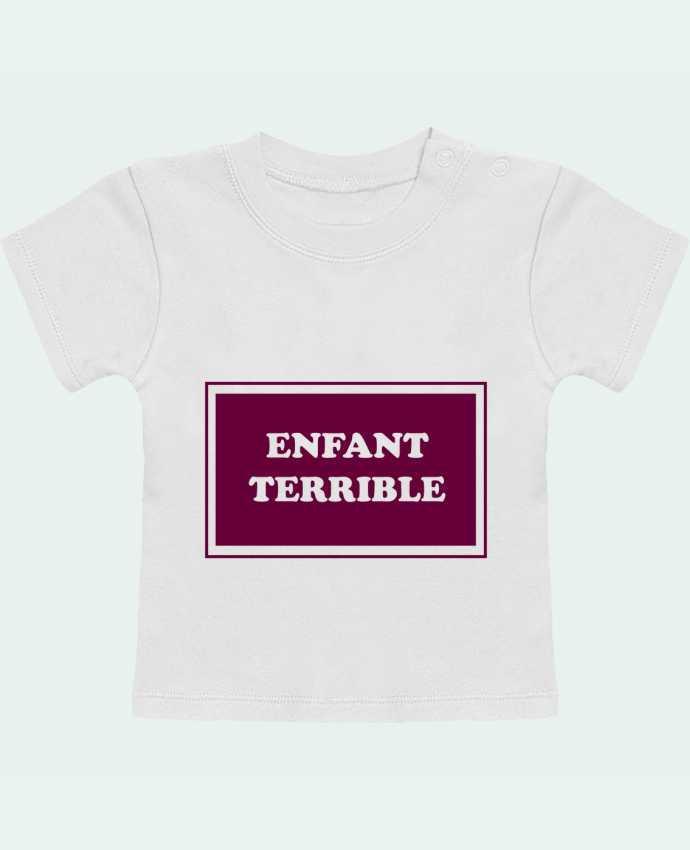 T-Shirt Bébé Manches Courtes Enfant terrible manches courtes du designer tunetoo