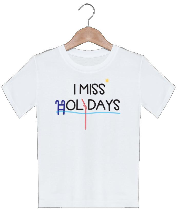 T-shirt Enfant I miss holidays tunetoo