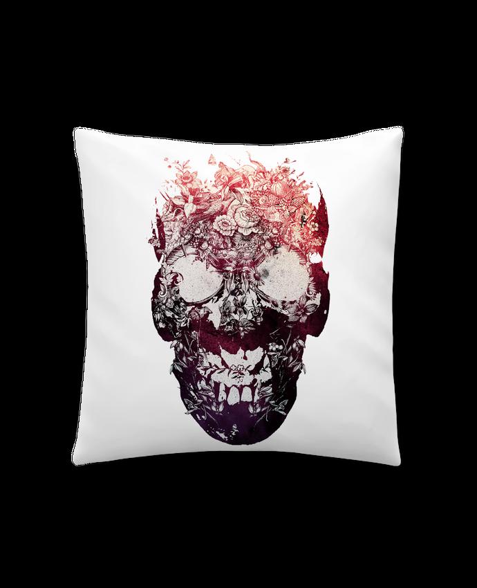 Coussin Synthétique Doux 45 x 45 cm Floral skull par ali_gulec