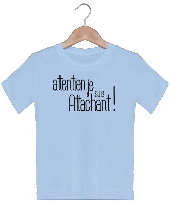 T-shirt Enfant Attention je suis attachant ! tunetoo