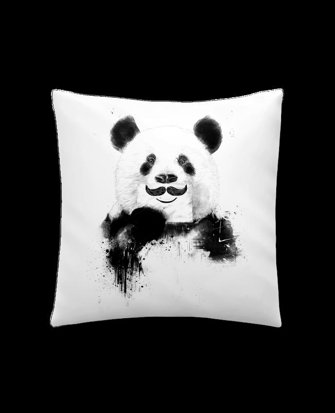 Coussin Synthétique Doux 45 x 45 cm Funny Panda par Balàzs Solti