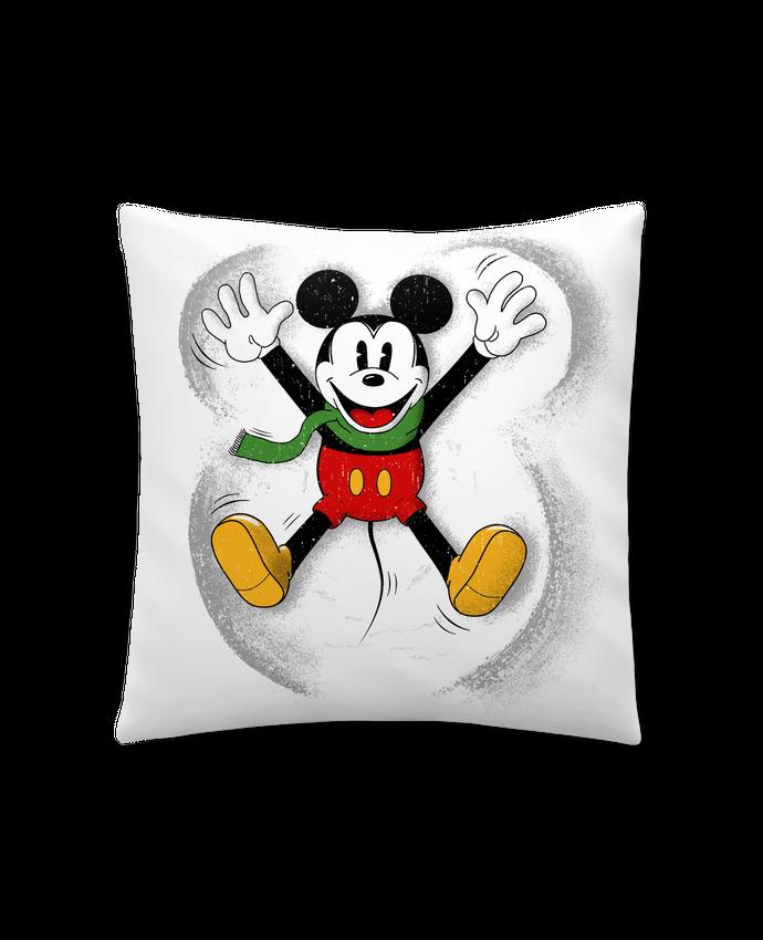 Coussin Synthétique Doux 45 x 45 cm Mickey in snow par Florent Bodart