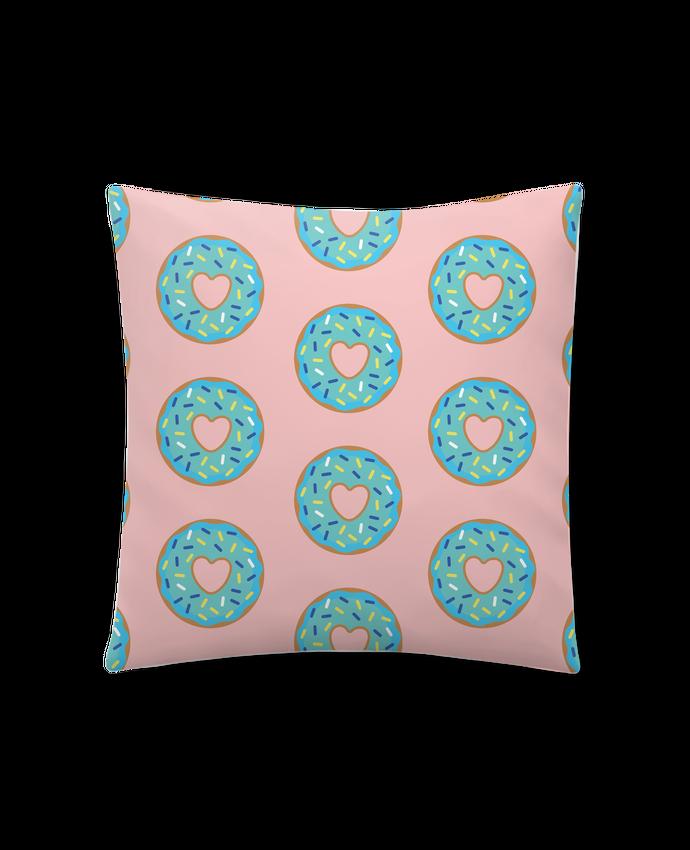 Coussin Synthétique Doux 45 x 45 cm Donut coeur par tunetoo