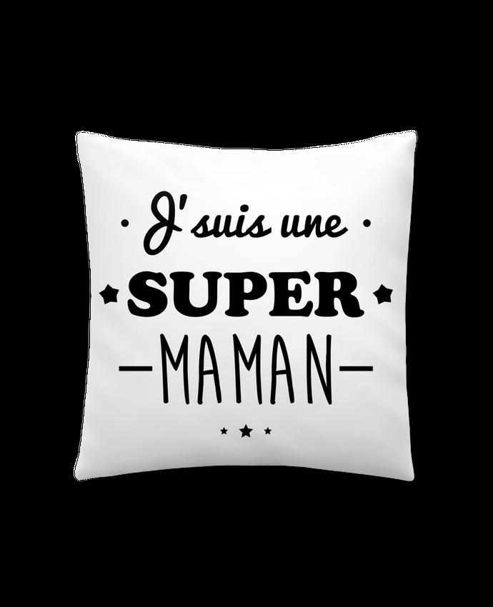 Coussin Synthétique Doux 45 x 45 cm J'suis une super maman, cadeau fête des mères par Benichan
