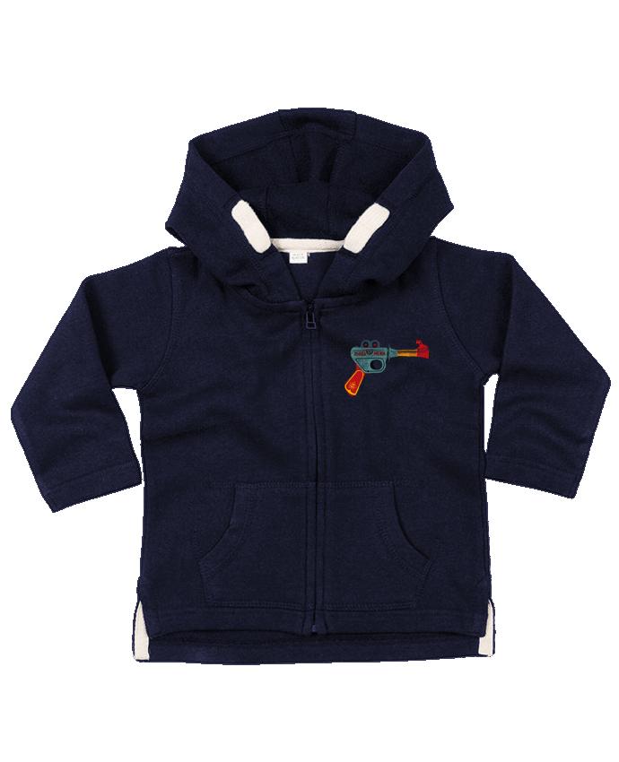 Sweat Bébé Zippé à Capuche Gun Toy par Florent Bodart
