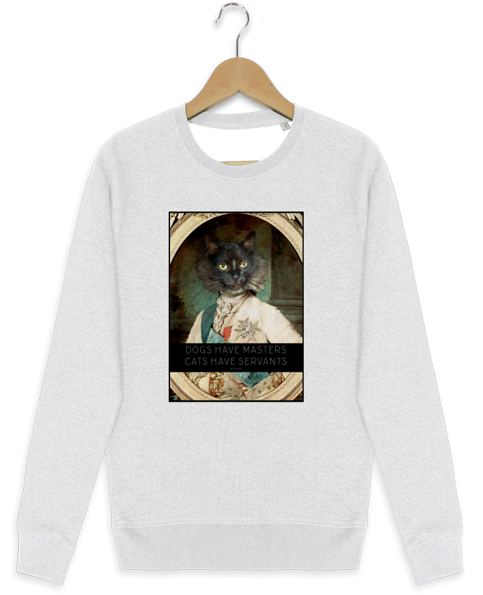Sweat-shirt Stanley stella modèle seeks King Cat par Tchernobayle