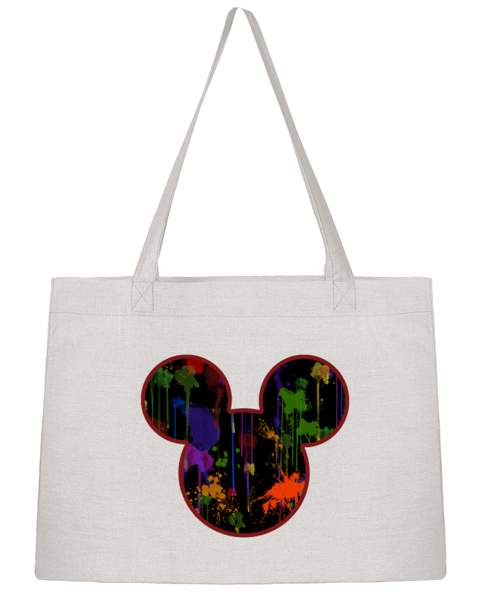 Sac Shopping Tete de Mickey version noir par Tasca