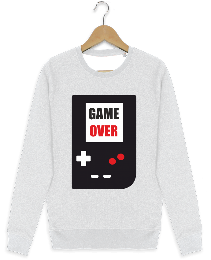 Sweat-shirt Stanley stella modèle seeks Game Over Console Game Boy par Benichan