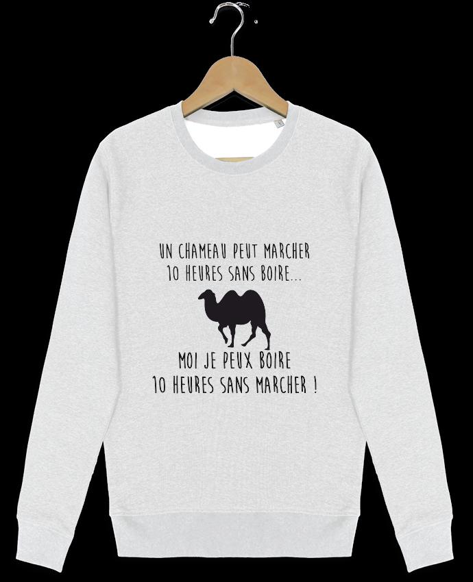 Sweat-shirt Stanley stella modèle seeks Un chameau peut marcher 10 heures sans boire ... par Benicha