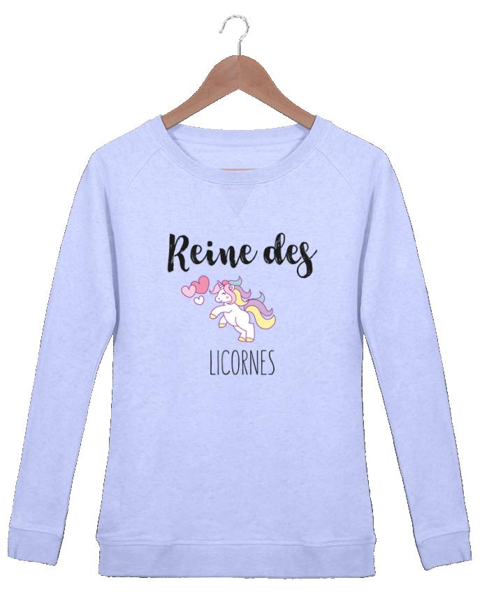 Sweat Col Rond Femme Stella Trips Reine des licornes par tunetoo