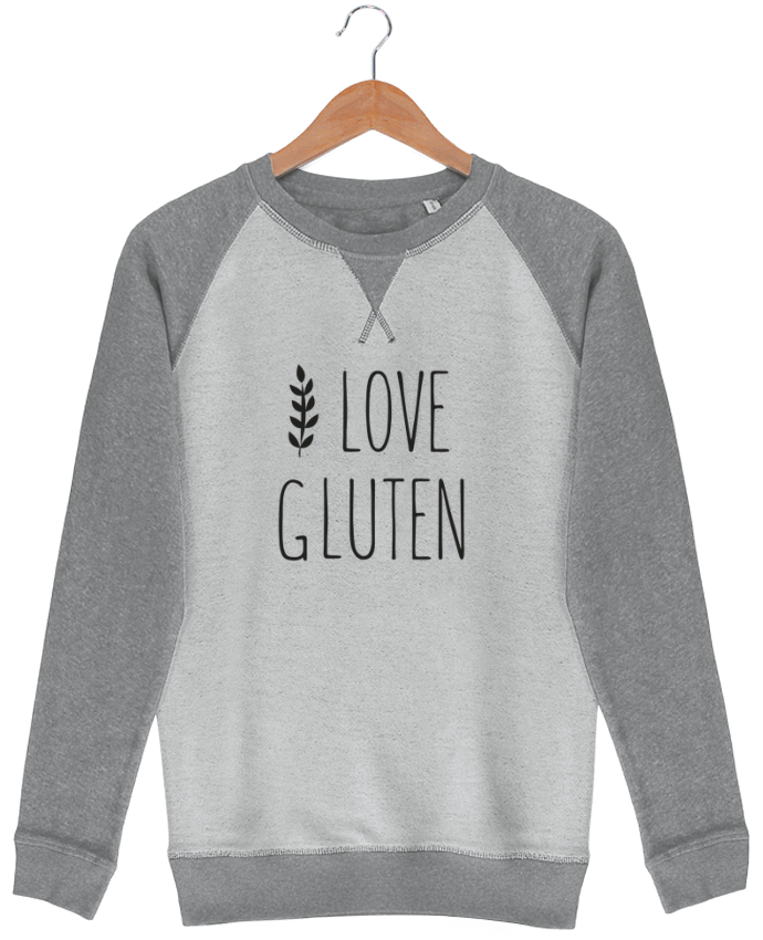Sweat French Terry I love gluten by Ruuud par Ruuud