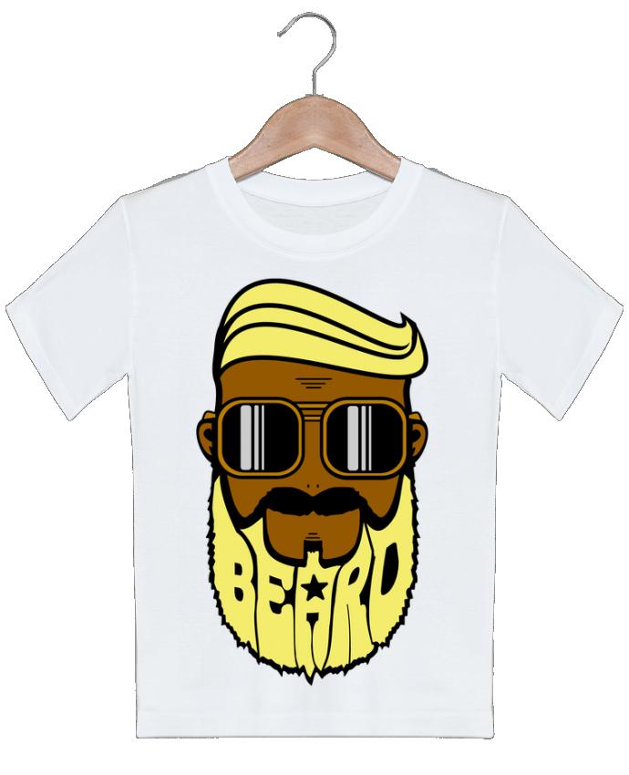T-shirt Enfant Beard Barber jaune BOUTIQUE DU BARBU