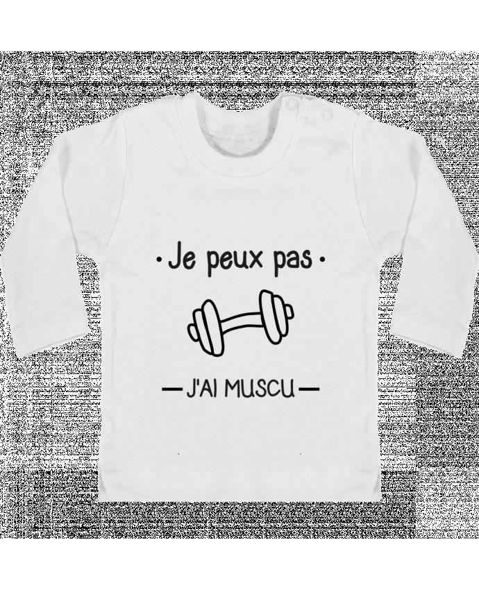 T-shirt Bébé Manches Longues Boutons Pression Je peux pas j'ai muscu, musculation manches longues du designer Benichan
