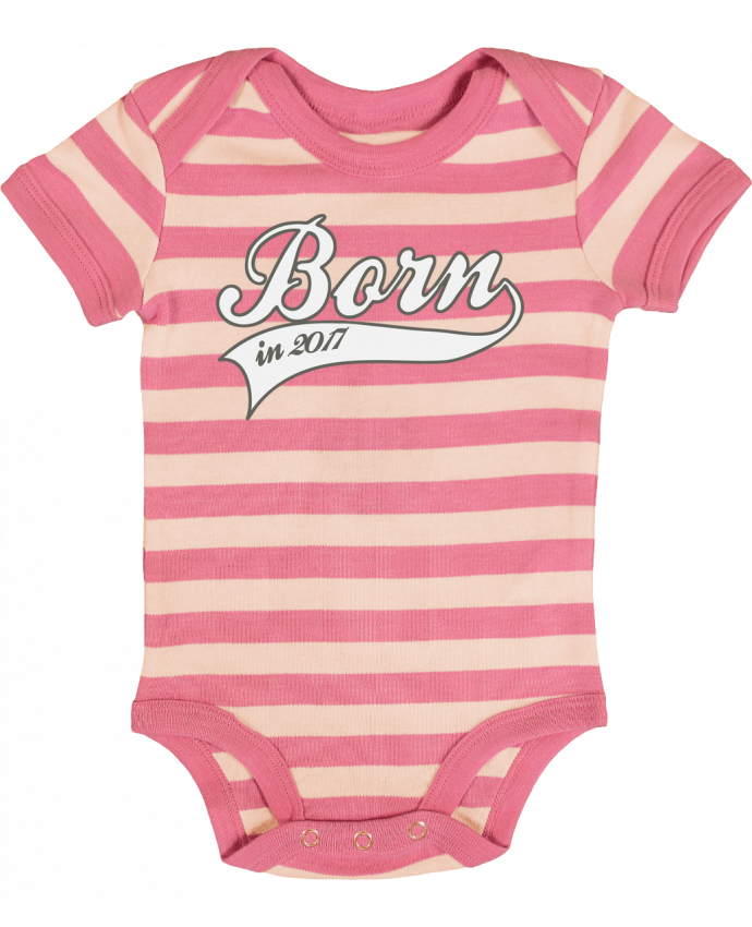 Body Bébé à Rayures Born in 2017 - justsayin