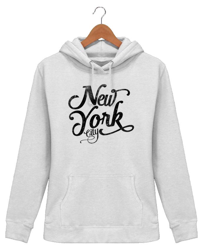 Sweat à Capuche Femme New York City typographie - justsayin