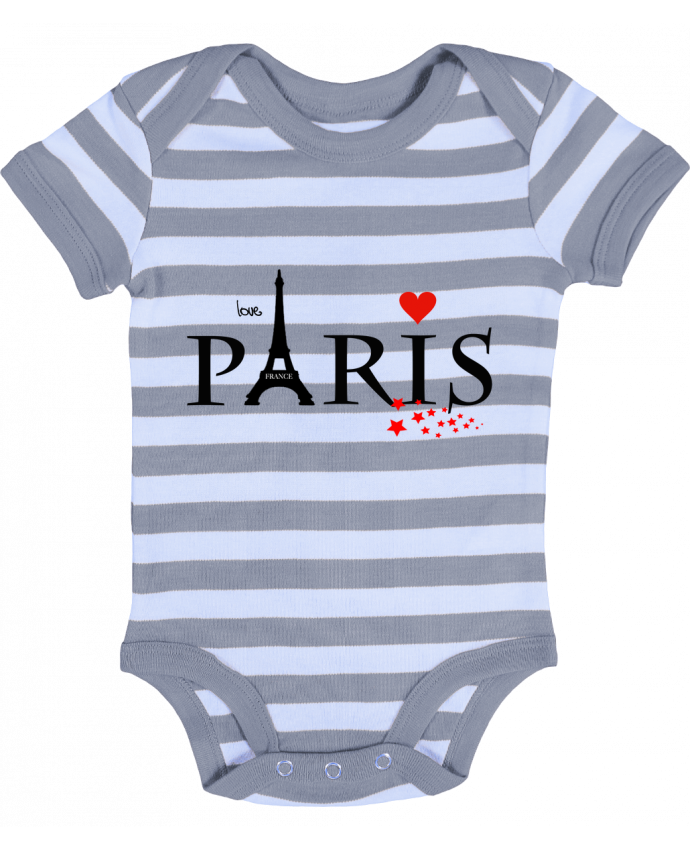 Body Bébé à Rayures Paris love - Dream Design