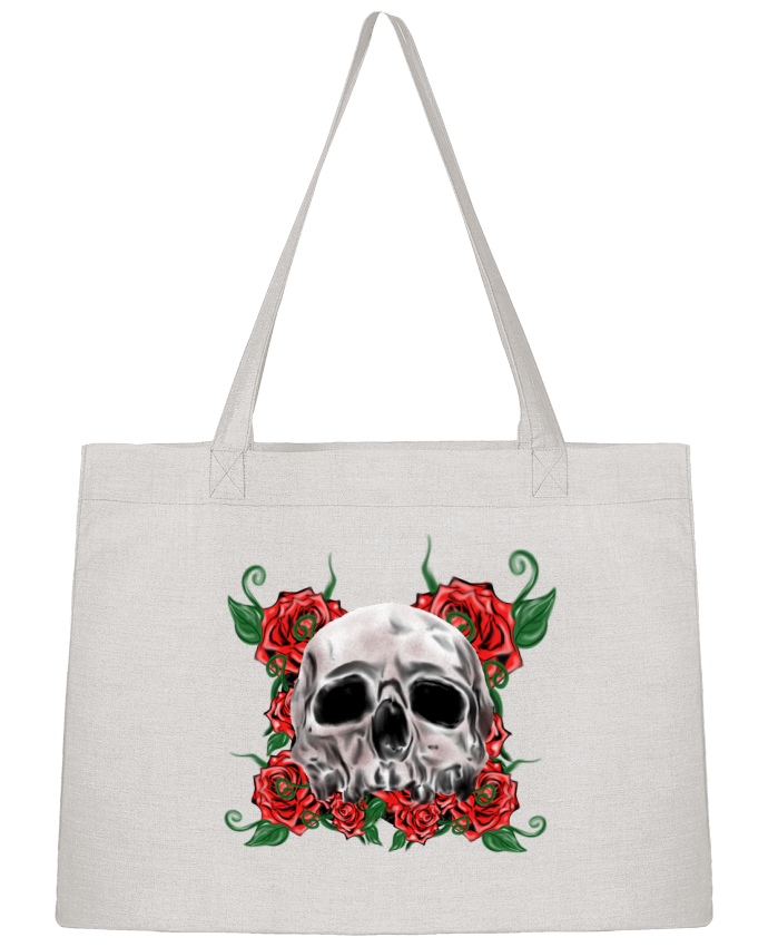 Sac Shopping skull and roses par Cameleon