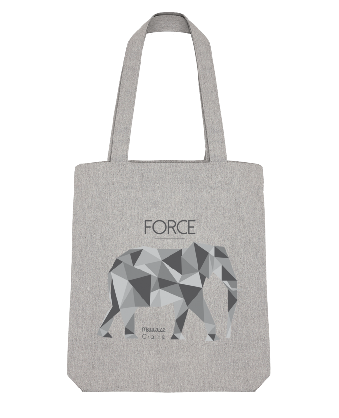 Tote Bag Stanley Stella Force elephant origami par Mauvaise Graine