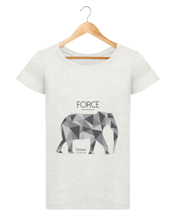 T-shirt Femme Stella Loves Force elephant origami par Mauvaise Graine