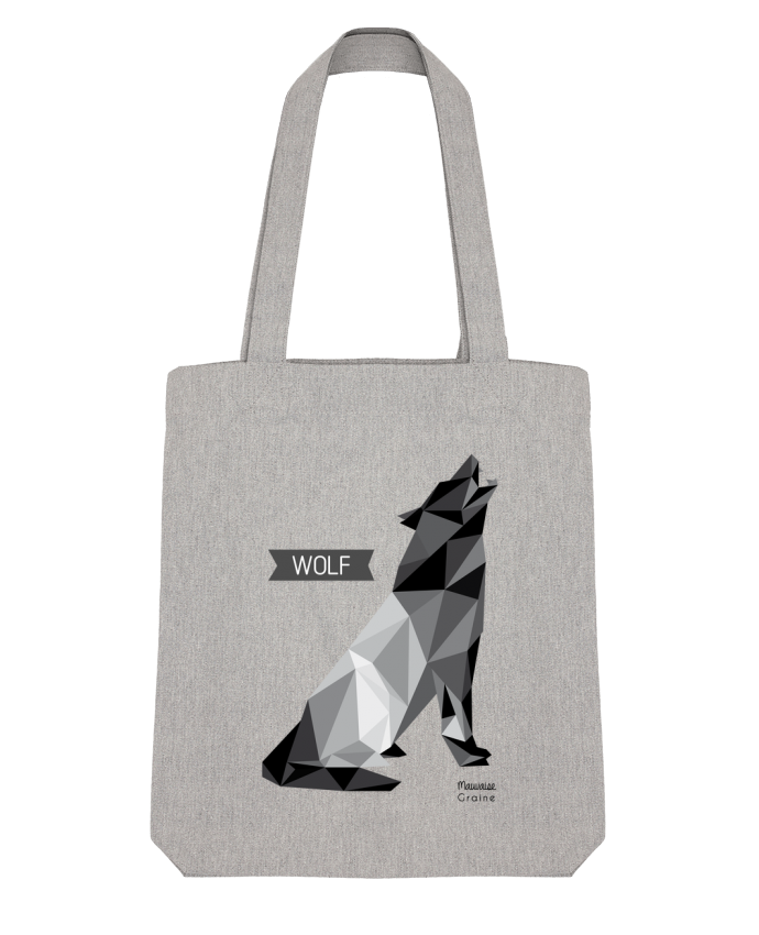 Tote Bag Stanley Stella WOLF Origami par Mauvaise Graine
