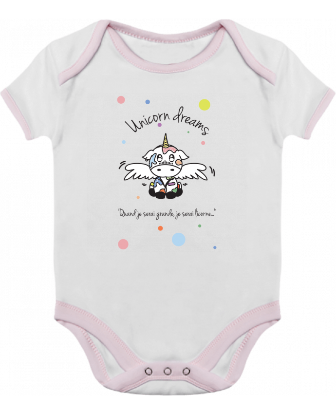 Body Bébé Contrasté Unicorn Dreams - Little cow par BlassCrea
